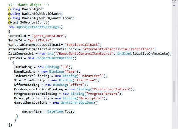 MVC_Gantt_Code